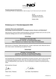 Einladung zum 3. Feierabendgespräch 2008 - Strittmatter Partner AG