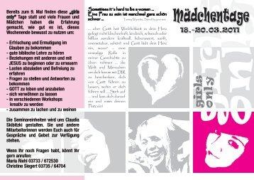 Mädchentage 2011 außen - Strobel-Mühle Pockautal