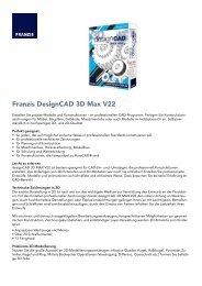 Franzis DesignCAD 3D Max V22 - Strohmedia.de