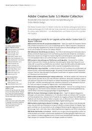 Adobe Creative Suite 5.5 Master Collection Datasheet - Video Data