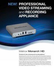 Matrox Monarch HD - Video Streaming and ... - Strohmedia.de