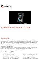 invisibleSHIELD Apple iPhone 3G _ 3Gs (Back) - Strohmedia.de