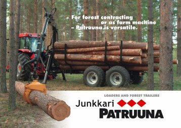 For forest contracting or as farm machine ... - Stroje Slovakia