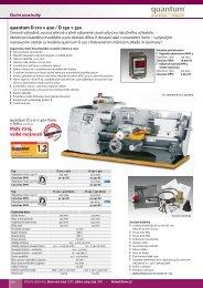 Malý stroj, velké možnosti quantum D 210 × 400 / D ... - Stroje Slovakia
