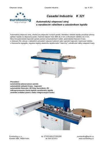 Casadei Industria K321 - EUROTOOLING, sro