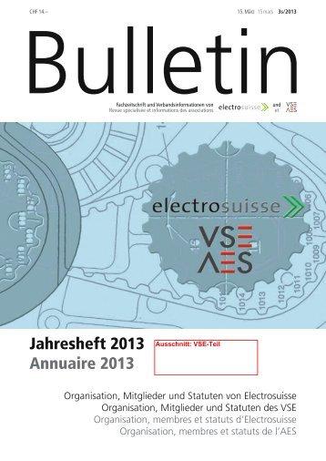 Jahresheft 2013 Annuaire 2013 - VSE