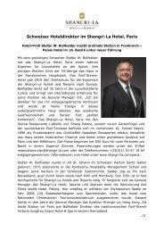 Hotel-Profi Stefan W. Bollhalder macht erstmals ... - Stromberger PR