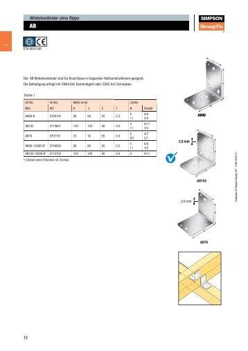 windverbandanschluss 1 und 2 simpson strong tie. Black Bedroom Furniture Sets. Home Design Ideas