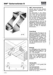 Sparrenfuß Holzverbinder SHH 100G-B 1 Stück BMF Sparrenhalter verz