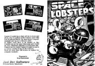 Page 1 Page 2 Red Rat Software SPACE LOBSTERS ATARI S-BIT ...