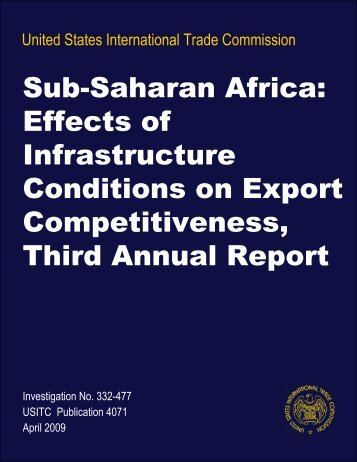 Sub-Saharan Africa: Effects of Infrastructure Conditions on ... - USITC