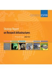 Strategy Report on Research Infrastructures - European ...