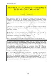 draft template and guidelines for the content of the operational ...