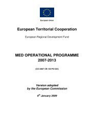 MED Operational Programme 2007-2013