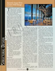 Dynamic Issues Drive Curtain Wall Design - STRUCTUREmag