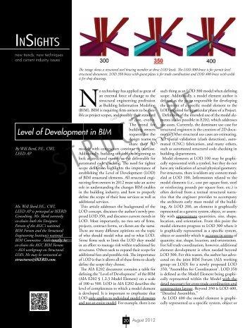 Level of Development in BIM fast - STRUCTUREmag