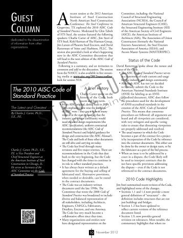 The 2010 AISC Code of Standard Practice fast - Structure Magazine