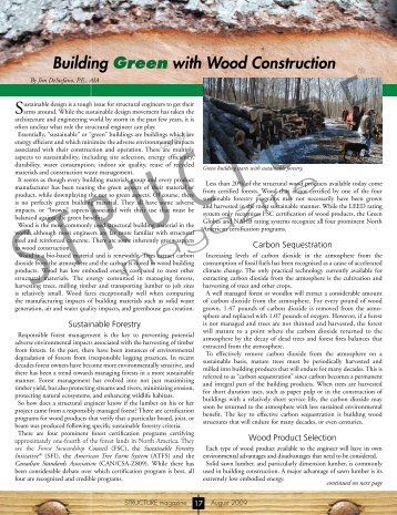 Building Green with Wood Construction faxless - Structure Magazine