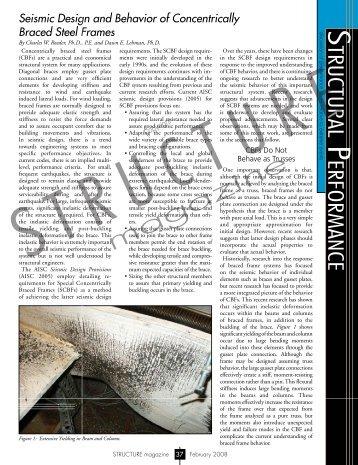 Seismic Design and Behavior of Concentrically Braced Steel Frames
