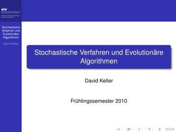 Stochastische Verfahren und Evolutionäre Algorithmen
