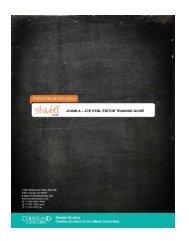 JOOMLA – JCE HTML EDITOR TRAINING GUIDE - Strudell Studios