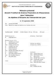 Mémoire présenté devant l'Institut de Science Financière et d ...