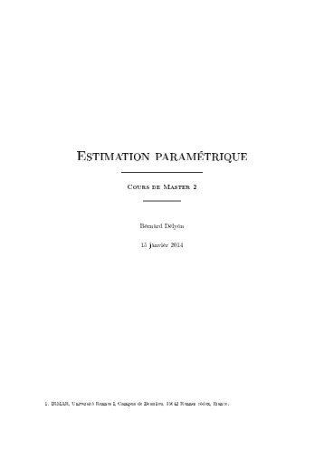 Estimation paramétrique