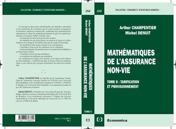 MATHÉMATIQUES DE L'ASSURANCE NON-VIE