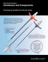Micro Access Tearaway Introducers ... - AngioDynamics