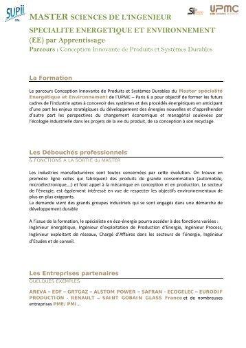 contenu fichier pdf - Master 2 en Mécanique des fluides et Energétique