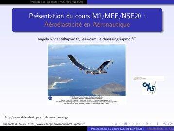 Présentation du cours M2/MFE/NSE20 - Master 2 en Mécanique des ...