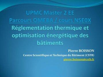 RT2012 - Master 2 en Mécanique des fluides et Energétique