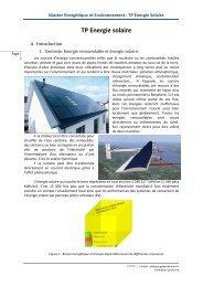 Master Energétique et Environnement : TP Energie Solaire