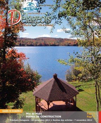Volume 24 numéro 4 - 3 octobre 2012 - Ville de Lac-Delage
