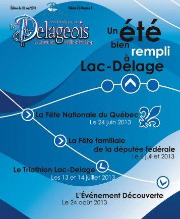 Volume 25 Numéro 2 - 30 mai 2013 - Ville de Lac-Delage