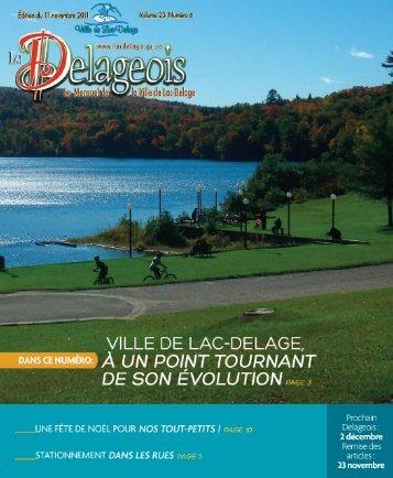 Volume 23 numéro 6 - 11 novembre 2011 - Ville de Lac-Delage