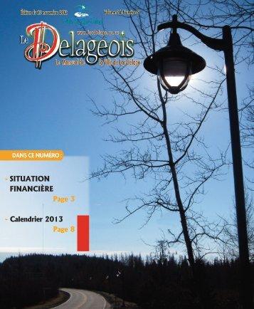 Volume 24 numéro 5 - 23 novembre 2012 - Ville de Lac-Delage
