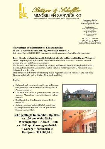 sehr gepflegte Immobilie – Bj. 2004 ca. 150 qm Wohnfläche + ...