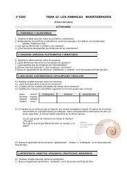 1º eso tema 12: los animales invertebrados - Dolmen de Soto