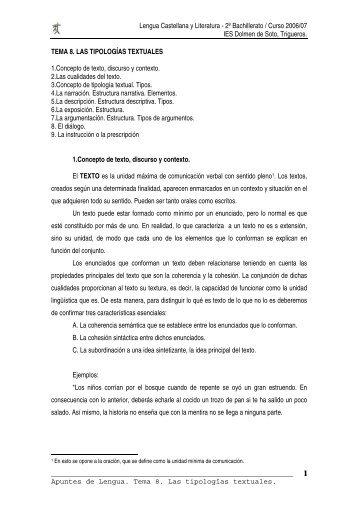 Tema 8 tipologias textuales - Dolmen de Soto