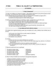 2º ESO TEMA 2: EL CALOR Y LA TEMPERATURA - Dolmen de Soto