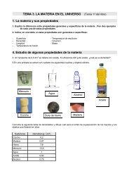 TEMA 3. LA MATERIA EN EL UNIVERSO (Tema ... - Dolmen de Soto