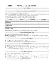 2º ESO TEMA 3: LA LUZ Y EL SONIDO - Dolmen de Soto