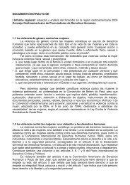 Informe Regional sobre Feminicidio - Dolmen de Soto