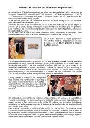 Autores: Las cifras del uso de la mujer en publicidad - Dolmen de Soto