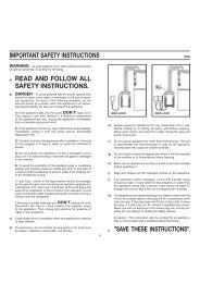 important safety instructions read and follow all ... - aquarium line