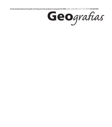 Revista edicao #1. - IGC - Universidade Federal de Minas Gerais