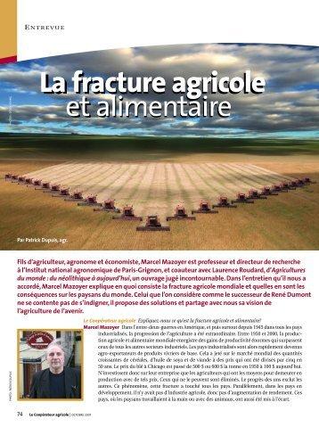 La fracture agricole et alimentaire - L'ACRA