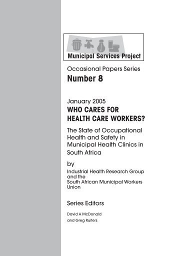 who cares for health care workers? - Municipal Services Project