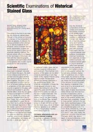 Scientific Examinations of Historical Stained Glass - Struers